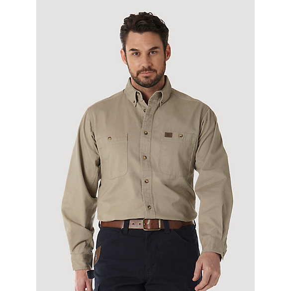 Mens Wrangler Work Shirts
