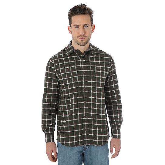 Wrangler Long Sleeve Flannel Plaid Shirt Pavement Big