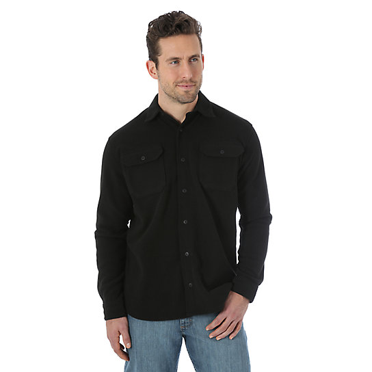 Wrangler® Polar Fleece Long Sleeve Solid Shirt