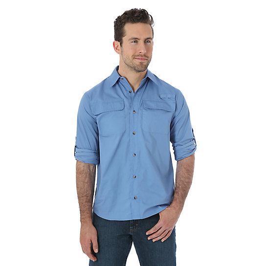 Wrangler® Utility Long Sleeve Shirt (Big Sizes)
