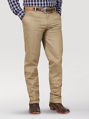 Men's Wrangler Casuals® Flat Front Relaxed Fit Pants