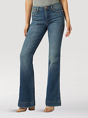 70s Wide Leg Jeans Leather Loop Rocker Hippie Flare Flared Leather Detailed Jeans Bell Bottom  Flare Leg Western Denim Size 30