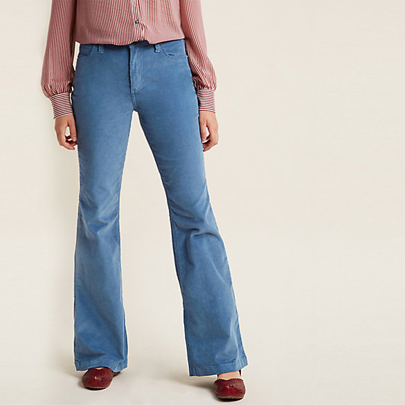 Modcloth x Wrangler® Flared Corduroy Pants (Plus Sizes)