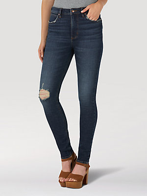 The Wrangler Retro® Green Jean: Women's High Rise Skinny