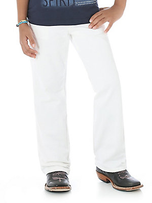 Wrangler® ProRodeo White Original Fit Jean - Girls (4-14)