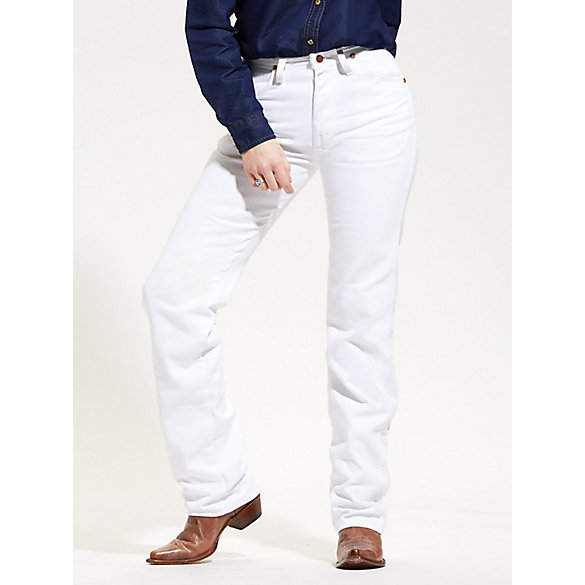Wrangler® Cowboy Cut® White Slim Fit Jean | Womens Jeans by Wrangler®