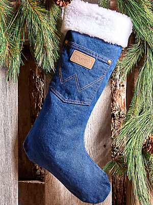 Wrangler® Sherpa Denim Christmas Stocking