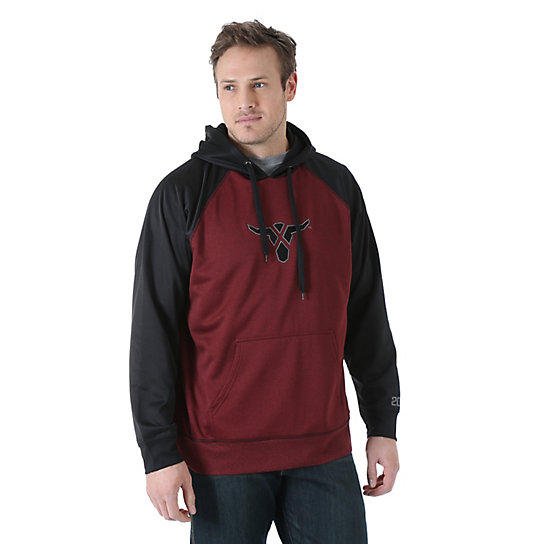 Wrangler® 20X® Drawstring Hoodie - Red Heather/Black (Tall Sizes)