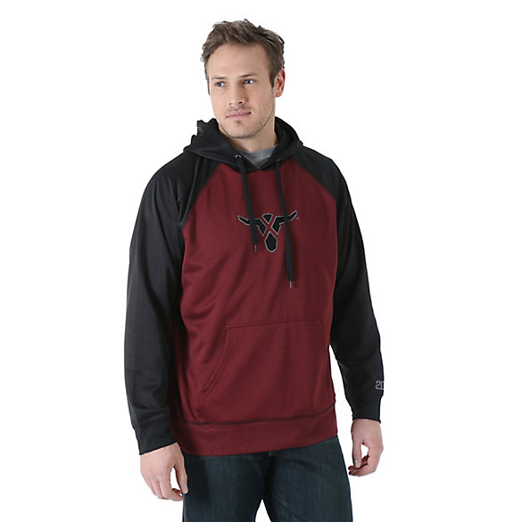 Wrangler® 20X® Drawstring Hoodie - Red Heather/Black