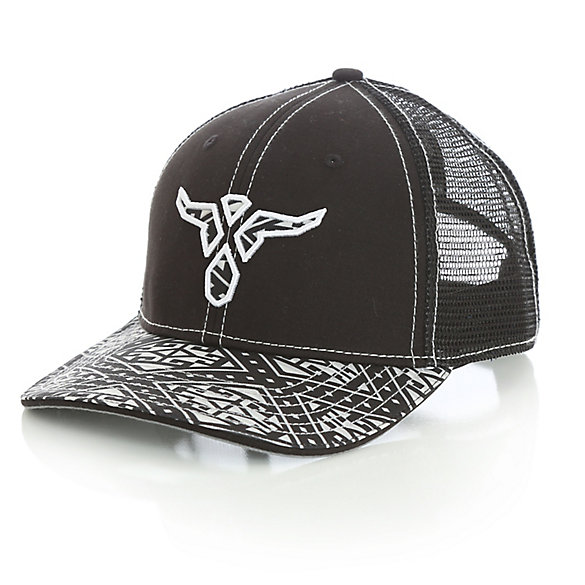 Men's Wrangler® 20X® Steerhead Logo Baseball Cap with Aztec Print Brim