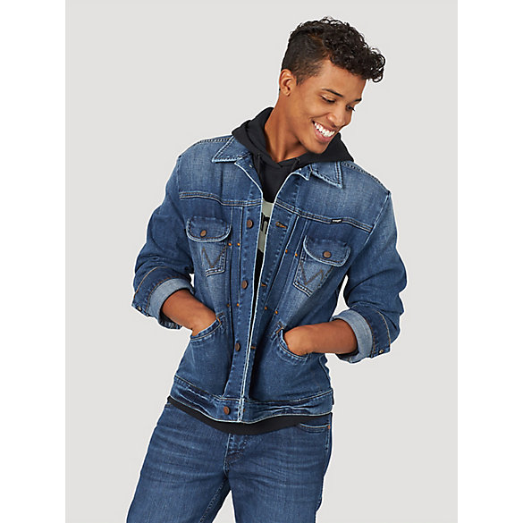 Men's Pleated Denim Jacket