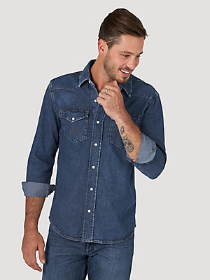 Wrangler ICONS™  27MW Men's Denim Shirt with Indigood™