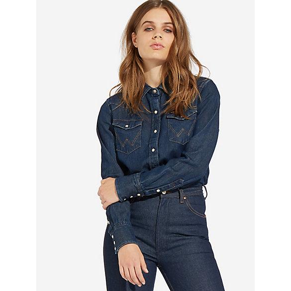 8d9b9eac1a9 Wrangler ICONS™ 27WW Women s Denim Shirt