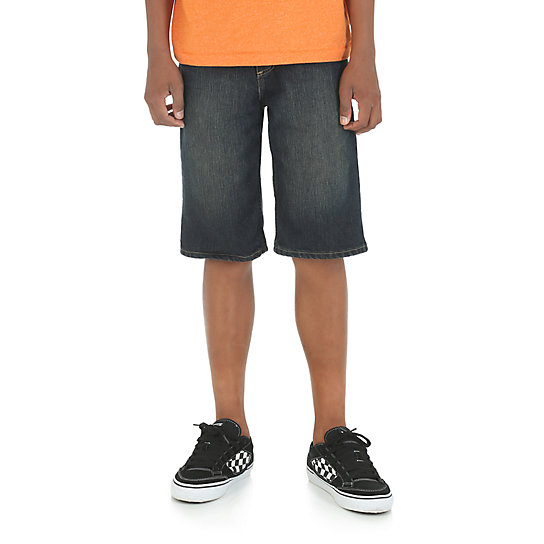 Boy's Classic Straight Fit Short with Snap Closure (4-7)