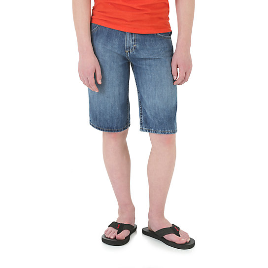 Boy's Straight Fit Jean Short with Snap Closure (4-7)
