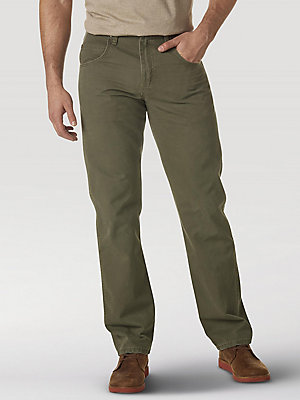 Wrangler Rugged Wear® Regular Fit Straight Leg Canvas Pant