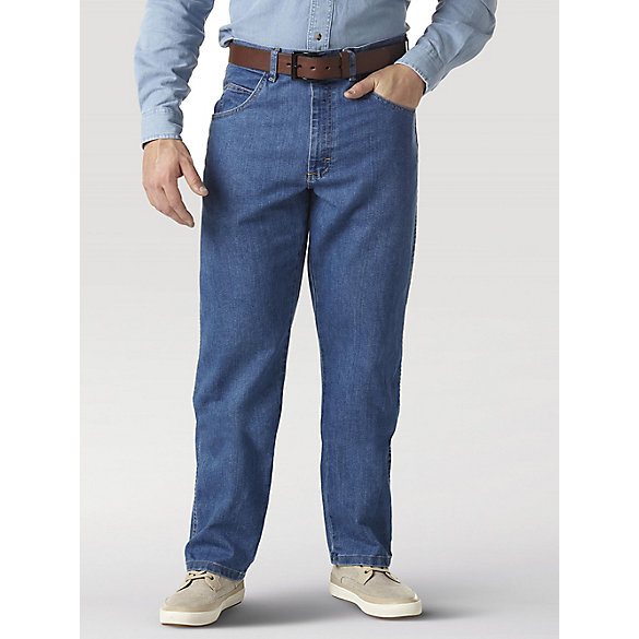 Wrangler Rugged Wear® Relaxed Stretch Flex Denim Jean - Stonewashed (Big Sizes)