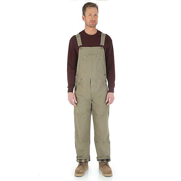 Wrangler® RIGGS Workwear® Ripstop Flannel Lined Bib Overall