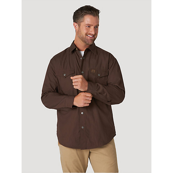 Wrangler® RIGGS Workwear® Flannel Lined Ripstop Solid Shirt