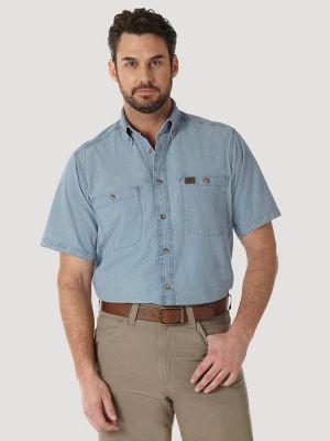 Wrangler 174 Riggs Workwear 174 Chambray Work Shirt Mens