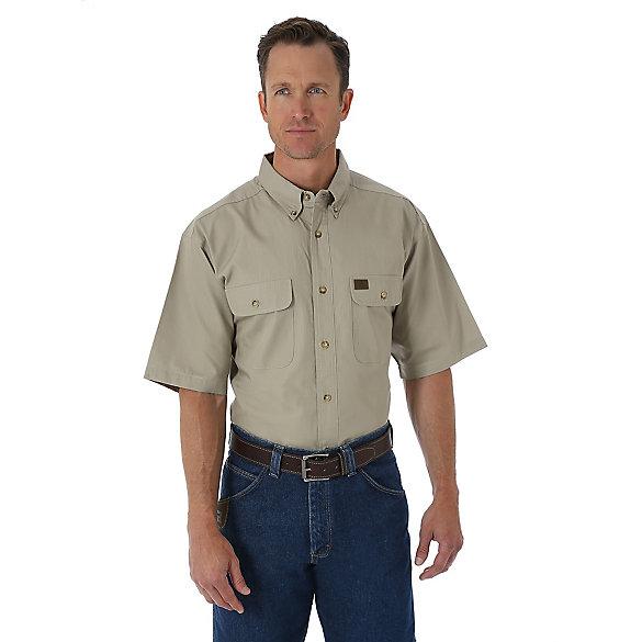 9da1d5dca7 Men's Wrangler® RIGGS Workwear® Short Sleeve Button Down Solid Riptop Work  Shirt