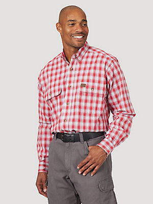 Wrangler® RIGGS Workwear® Long Sleeve Plaid Work Shirt