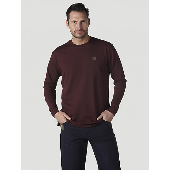 Wrangler® RIGGS Workwear® Long Sleeve Pocket T-Shirt (Big & Tall Sizes)