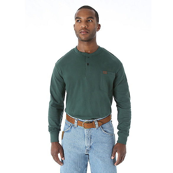 Wrangler® RIGGS Workwear® Long Sleeve Solid Henley