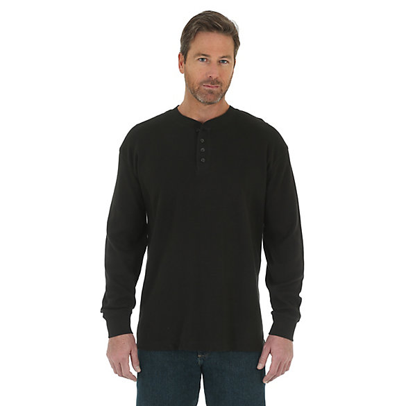 Men's Wrangler® RIGGS Workwear® Long Sleeve Thermal Solid Henley  (Big & Tall)