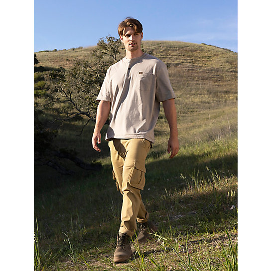 Wrangler® RIGGS Workwear® Short Sleeve Henley (Big & Tall Sizes)