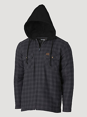 Wrangler® RIGGS Workwear® Long Sleeve Hooded Flannel Work Jacket