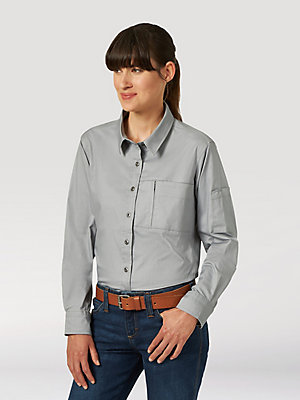 Women's Wrangler® RIGGS Workwear® Solid Button-Down Work Shirt