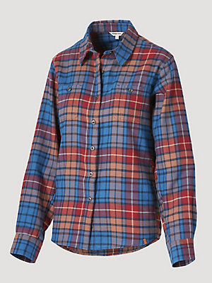 Women's Wrangler® RIGGS Workwear® Long Sleeve Lightweight Flannel Work Shirt