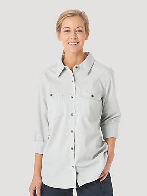 Women's Wrangler® RIGGS Workwear® Long Sleeve Vented Solid Work Shirt