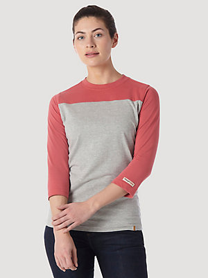 Women's Wrangler® RIGGS Workwear® Three-Quarter Sleeve Colorblocked Performance T-Shirt