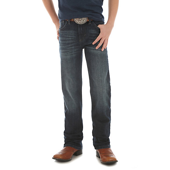 Boy's Wrangler® 20X® Slim Fit Straight Leg Jean (8-18)