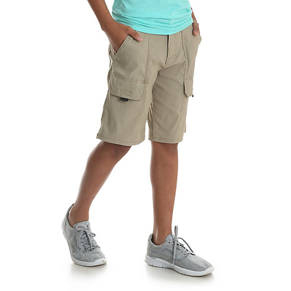 Boy's Outdoor Cargo Short with Contrast Trim (8-16)