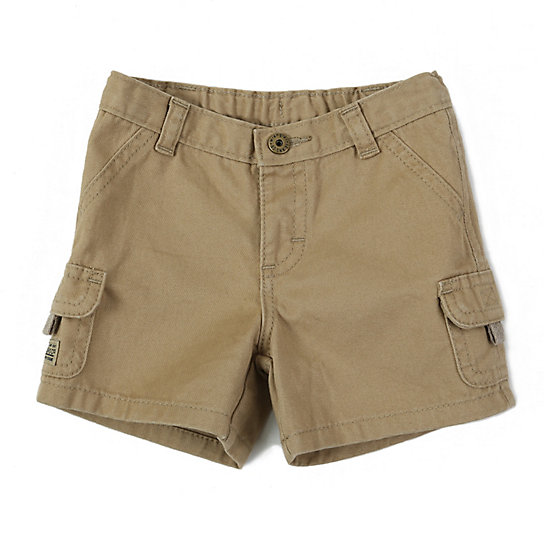 Give him a laid-back look for everyday wear with these boys' Jumping Beans slubbed cargo shorts.