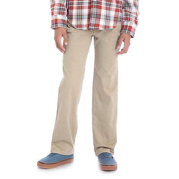 Boy's Five-Pocket Slim Straight Chino Pant (Husky)