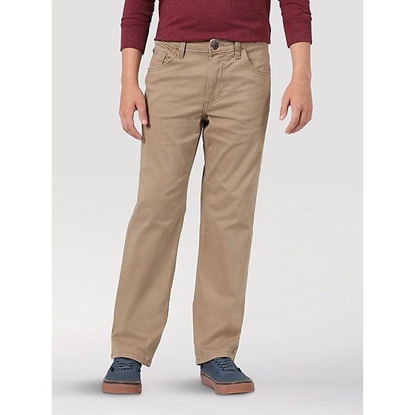 Wrangler® Elements of Comfort™ Boy's Slim Straight Twill Pant (4-7)