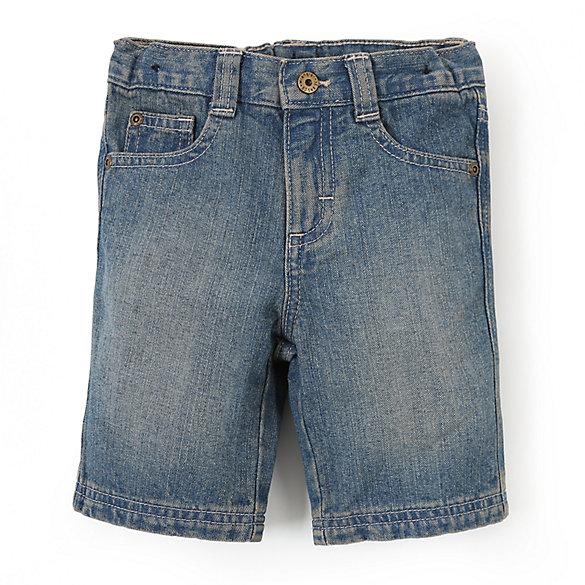 Boy's Wrangler Jeans Co.® Five Pocket Slim Straight Short (2T-5T)