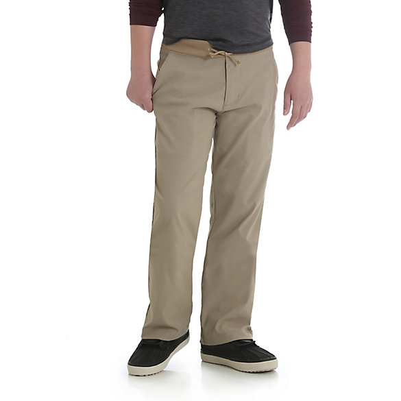Boy's Pull-On Straight Leg Knit Waist Cargo Pant