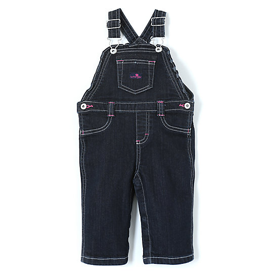 Wrangler® Baby Girl Overall Dark Alloy - Infant