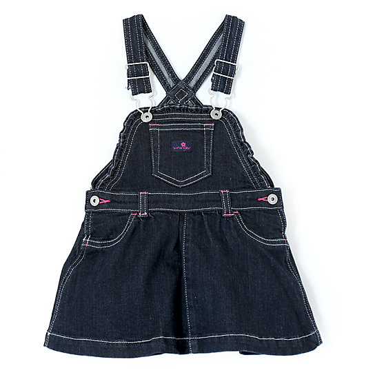 Wrangler® Baby Girl Overall Skirt Dark Alloy - Infant