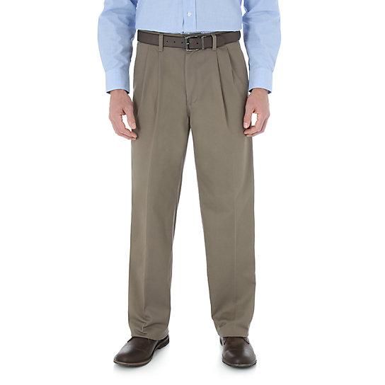 Wrangleru00ae Advanced Comfort Business Casual Pleated Pant (Big Sizes) | Mens Pants By Wrangleru00ae