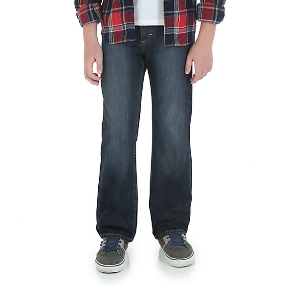 Boy's Wrangler Five Star® Relaxed Boot Cut Jean (Husky)