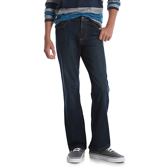 Boy's Wrangler® Five Star Classic Stretch Bootcut Jean (Husky)