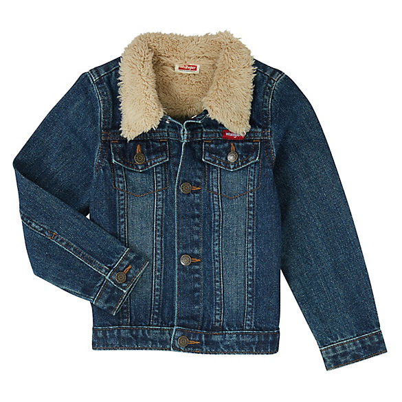 Toddler Boy's Sherpa Lined Denim Jacket