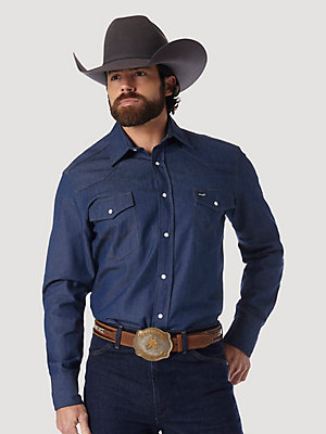 Cowboy Cut® Work Western Rigid Denim Long Sleeve Shirt