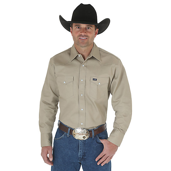 Cowboy Cut® Firm Finish Twill Long Sleeve Work Western Shirt (Big & Tall Sizes)